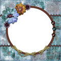 Bohemian Floral Frame Royalty Free Stock Photo