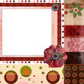 Bohemian Gypsy style scrapbook album page layout 8x8 inches Royalty Free Stock Photo