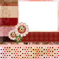 Bohemian Gypsy style scrapbook album page layout 8x8 inches