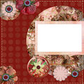 Bohemian Gypsy style scrapbook album page layout 8x8 inches Royalty Free Stock Images