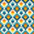 Bohemian large aztec diamonds blue pattern