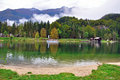 Bohinj lake in central slovenia Stock Photography