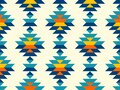 Boho aztec vertical diamonds rows colorful pattern