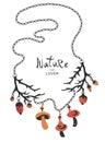 Boho ethnic nature lover necklace