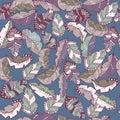 Boho hand drawn doodle seamless pattern eps10