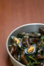Boiled Asian green mussel, Perna viridis Royalty Free Stock Photography