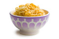 Boiled chinese noodles in bowl Royalty Free Stock Photo