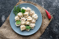 Boiled dumplings pelmeni Royalty Free Stock Photo