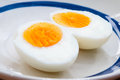 Boiled egg two halves of a Stock Images