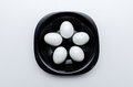 Boiled eggs on the plate Royalty Free Stock Photo