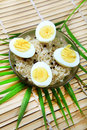 Boiled eggs and rice Royalty Free Stock Image