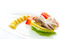 Boiled octopus with lemon slice Royalty Free Stock Image