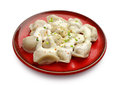 Boiled pelmeni Royalty Free Stock Photos