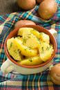Boiled potatoes with dill Royalty Free Stock Photo