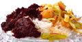 Boiled Rice with Beetroot and Vegetables Royalty Free Stock Photo