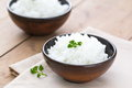 Boiled rice in a bowl Royalty Free Stock Photo