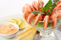 Boiled shrimp Royalty Free Stock Images