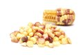 Boiled waxy corn on white background Stock Photography