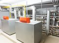 Boiler house image indoor shot heating system Stock Photo