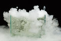 Boiling dry ice with vapor Royalty Free Stock Photos