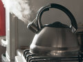 Boiling kettle Royalty Free Stock Photo