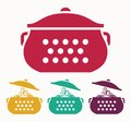 Boiling pot vector illustration of the Royalty Free Stock Images
