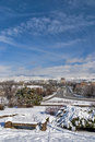 Boise city winter and state capital Royalty Free Stock Photos