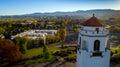 Boise train depot and city of Boise Idaho skyline Royalty Free Stock Photo