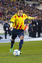 Bojan krkic of catalonia national team the football beat cape verde at the annual christmas friendly match in lluís companys Royalty Free Stock Photography