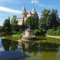 Bojnice castle with reflection