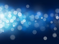 Bokeh abstract backgrounds blue light Royalty Free Stock Photo