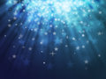 Bokeh abstract backgrounds blue star light Stock Images