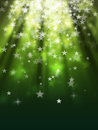 Bokeh abstract backgrounds green star light Stock Image