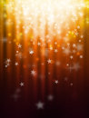 Bokeh abstract backgrounds orange star light Stock Photo