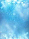 Bokeh background blue for festive layout christmas Royalty Free Stock Photography