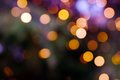 Bokeh background from christmas tree decoration Royalty Free Stock Photos