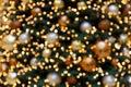 Bokeh Background Christmas Tree Decoration III Royalty Free Stock Photo