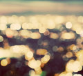 Bokeh, blur of a big city lights at night. Nightlife background Royalty Free Stock Photo