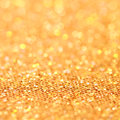 Bokeh christmas gold blinking background golden Stock Image