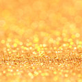 Bokeh christmas gold blinking background golden Royalty Free Stock Photo
