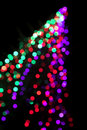 Bokeh of a christmas tree Royalty Free Stock Images