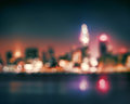 Bokeh City lights abstract