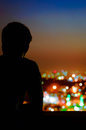 Bokeh City Royalty Free Stock Photo