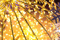 Bokeh defocused gold christmas background abstract Stock Photography