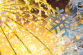 Bokeh defocused gold christmas background abstract Royalty Free Stock Image