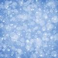 Bokeh del extracto de la Navidad del fondo del invierno Fotografía de archivo