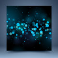 Bokeh effect template black and blue Stock Photos