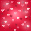 Bokeh effect transparent hearts Royalty Free Stock Photo