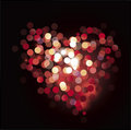 Bokeh heart illustration Royalty Free Stock Photos