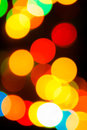 Bokeh of light bulb colorful with blurry technique Royalty Free Stock Photo